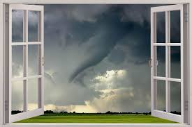 huge 3d window tornado view wall sticker mural art decal wallpaper huge 3d window tornado view wall stickers film mural art decal wallpaper