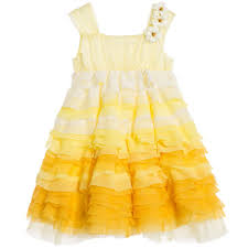 quis yellow organza u0026 tulle dress childrensalon outlet