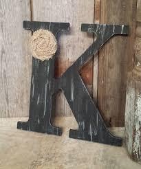 K Home Decor | black rustic chic wooden letter k home decor letters burlap