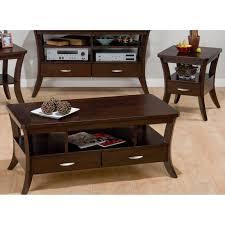Livingroom Table Sets Furniture Verona 3 Pieces Espresso Coffee Table Set For Living