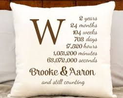 2nd wedding anniversary gift ideas for couples pillow 2nd anniversary gift housewarming pillow