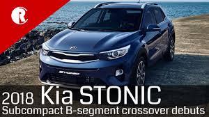 new kia stonic subcompact suv youtube