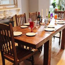 distressed wood table and chairs distressed wood dining table dining room sustainablepals