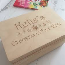 personalised wooden christmas eve box love unique personal