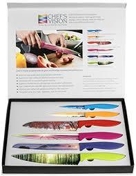luxury kitchen knives chef s vision 6 color landscape kitchen knife set in luxury
