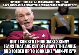 Cargo Pants Meme - shopping online when you re overweight male imgflip