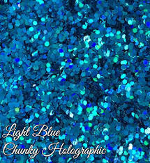 holographic glitter blue chunky holographic glitter