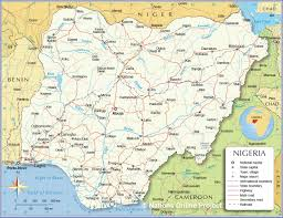 Africa Map With Capitals by Administrative Map Of Nigeria Nations Online Project