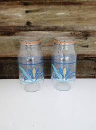 vintage glass jar very vtg kitchen decorated jars pinterest