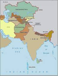 Map Of Central Asia by Map Of South Central Asia Central And Southwest Asia Map Map