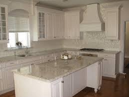 kitchen stained glass tile backsplash kitchen painted white
