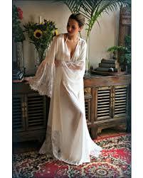 wedding sleepwear great deals on satin bridal robe lace trimmed angel sleeve wedding