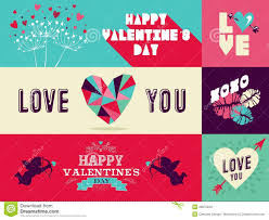 happy valentines day banner happy valentines day web banner set stock vector image 48875840