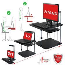 Adjustable Stand Up Sit Down Desk by Sit Stand Desk Converter Workstation C1 Standing Desk Hub