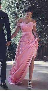dress pink 2017 custom made pink lace prom dress the shoulder evening