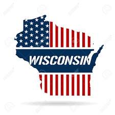 Wisconsin Usa Map by Wisconsin Patriotic Map Graphic Design Illustration Royalty Free