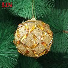 christmas decorations 8 cm golden red foam decoration natal balls