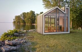 small cabin blueprints the prefab modern bunkie cabin design