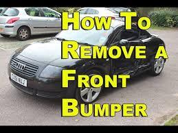 2001 audi tt front bumper cover audi tt front bumper removal 99 05