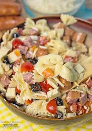sausage and tortellini pasta salad recipe scattered thoughts of