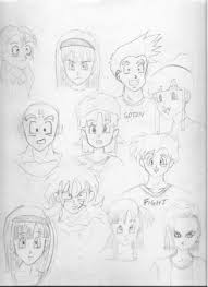 dragon ball sketches 2 paperdemon