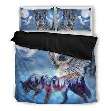Wolf Bedding Set Buy Wolf Bedding Set Free Shipping 2 Matching Covers