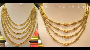 necklace designs images Step necklace designs in gold jpg