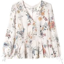 floral blouse sleeve meadow floral top 191 095 clp