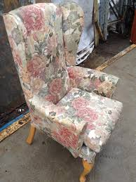 2 Seater Sofa And Armchair Vintage Retro Wingback 2 Seater Sofa Armchairs Reupholstery In