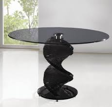 Modern Black And White Dining Table Modern Black Round Glass Dining Tables With Unique Design On Leg