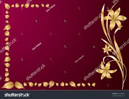 background gold flower leaves stock vector 24239866 shutterstock