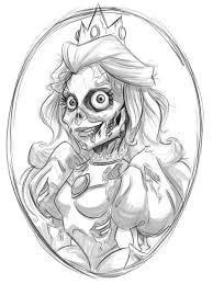 princess peach zombie wip by keepsake20 on deviantart