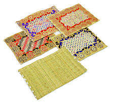 Table Place Mats Straw Rectangular Placemats Ebay