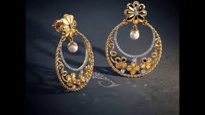 bluestone earrings gold chandbali designs from blue gold chandbali