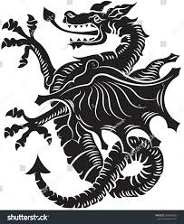 tribal tattoo dragon on white background stock vector 679643059