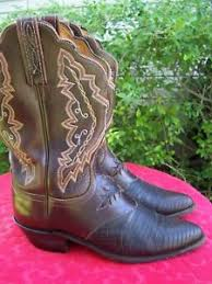womens brown cowboy boots size 9 womens lucchese 1883 brown lizard cowboy boots size 9 b ebay