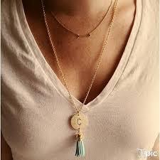 monogrammed necklace gold initial or monogrammed necklace ellie s sparkles