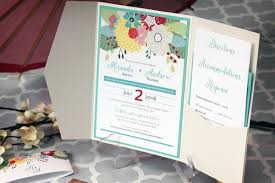 Pocketfold Invitations Colourful Floral Pocket Fold Wedding Invitations Impressions