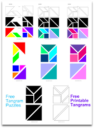 printable tangram tangrams activities shapes designs solutions and templates