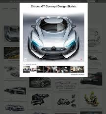 the design sketch board car body design