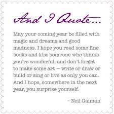 may your coming year be filled with magic and dreams and god