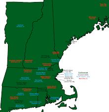 New England Coast Map by Teams New England Football League