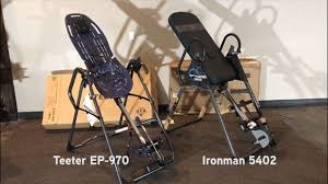 teeter inversion table reviews inversion table review comparison of teeter ep 970 and ironman 5402