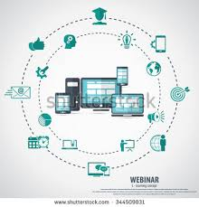 Webinar E Commerce Logistics Oct E Learning Webinar Concept Background Stock Vector 344509031
