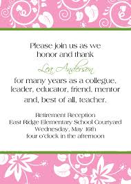 Wedding Card Invitation Messages Enchanting Retirement Invite Cards 18 For E Card Invite With