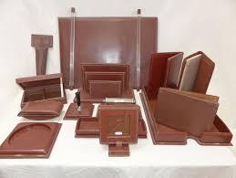 sous cuir bureau le tanneur nécessaire de bureau en cuir marron à couture de