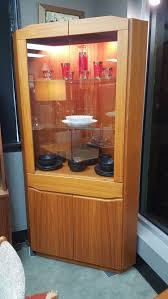 Display Cabinets With Lights Danish Modern Sm 352 Corner Cabinet In Teak With Interior Lights