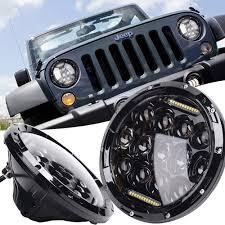 jeep black headlights led y accesorios jeep wrangler led u0026 angel eyes chile