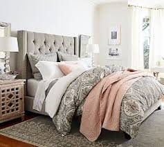 Slipcovers For Headboards by Upholstered Beds U0026 Fabric Headboards Pottery Barn
