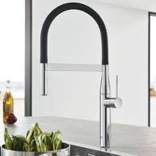 contemporary kitchen faucet the new grohe essence semi pro kitchen faucet has modern design